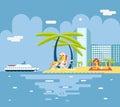 Gigls sunny beach planning summer vacation turism Royaltyfri Bild