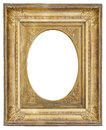 gilded antique frame with vignette Royalty Free Stock Photo