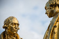 Gilded bronze statue of matthew boulton james watt and william murdoch by bloye raymond forbes kings also known as the Stock Photography