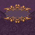 Gilded decor on a purple Royalty Free Stock Photo