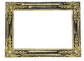 Gilded frame pictured the blank in a white background Royalty Free Stock Photo