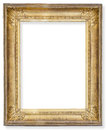 gilded wooden frame Royalty Free Stock Photo