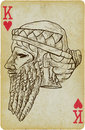 Gilgamesh playing card with the drawn figure the king of uruk description drawing consists of at least of two layers a colored Royalty Free Stock Images