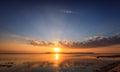 Gili Air Sunset Royalty Free Stock Photo