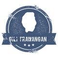 Gili Trawangan logo sign.