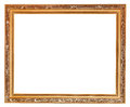 Gilted carved old wooden picture frame Royalty Free Stock Photo