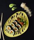 Gimbap. Korean Seaweed and Rice Rolls