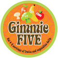 Gimmie Five Promo Sticker/Label on 70s background Stock Photography