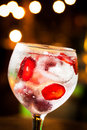 Gin tonic cold ready to drink Stock Photo