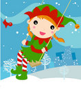 Ging elf  ,christmas Royalty Free Stock Photography