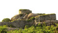 Gingee fort battlement a ruined at tamilnadu india Stock Image