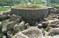 Gingee fort battlement a ruined at tamilnadu india Royalty Free Stock Photo