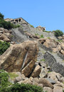 Gingee Fort with steps and rocks Royalty Free Stock Photo