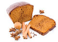 Ginger-bread, honey-cake with spices Royalty Free Stock Images