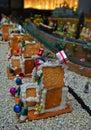 Ginger bread houses tijdens kerstmisseizoen Stock Afbeelding