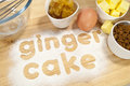Ginger Cake Ingredients Royalty Free Stock Photos