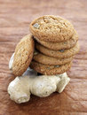 Ginger cookies and ginger root Royalty Free Stock Photo