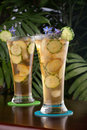 Ginger Cucumber Iced Tea Stock Image