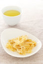 Ginger dried chips with sugar Stock Photography