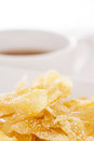Ginger dried chips with sugar Royalty Free Stock Images