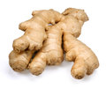 Ginger fresh root on white background Stock Image
