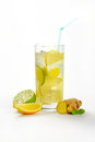 Ginger ice tea Royalty Free Stock Photo
