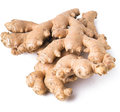 Ginger root on the background Stock Photography