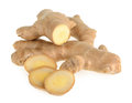 Ginger root isolated Royalty Free Stock Photo