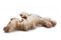 Ginger root on white Stock Image
