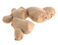 Ginger root on white background Royalty Free Stock Photography