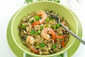 Ginger Shrimp and Rice Royalty Free Stock Image