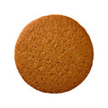 Ginger Snap Cookie isolated Royalty Free Stock Photo
