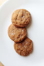 Ginger Snap cookies on plate Royalty Free Stock Photo
