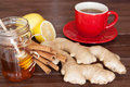 Ginger tea ingredients still life Royalty Free Stock Images