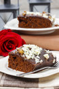 Gingerbread cake selective focus festive and party dessert Stock Image
