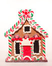 Gingerbread candycane house a red green and white Stock Photography