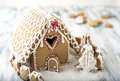 Gingerbread Christmas house Royalty Free Stock Photo
