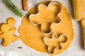Gingerbread cookie dough Royalty Free Stock Photo