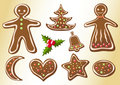 Gingerbread cookies. Royalty Free Stock Photos