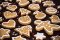 Gingerbread cookies christmas new year on wooden table close up Royalty Free Stock Photo