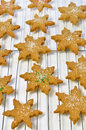 Gingerbread cookies fresh hot homemade star shaped on cooling rack Stock Photography
