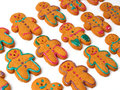 Gingerbread cookies isolated on white background Royalty Free Stock Images