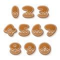 Gingerbread cookies numbers