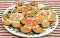 Gingerbread cookies on Plate Stock Images