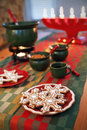Gingerbread cookies and the swedish christmas tradition glogg Stock Images