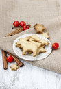 Gingerbread cookies traditional christmas recipe decoration Stock Image