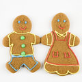 Gingerbread couple. Royalty Free Stock Photography