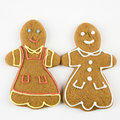 Gingerbread couple. Stock Photos