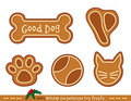 Gingerbread Dog Treats Stock Images