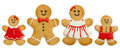 Gingerbread family against a white background Royalty Free Stock Photo